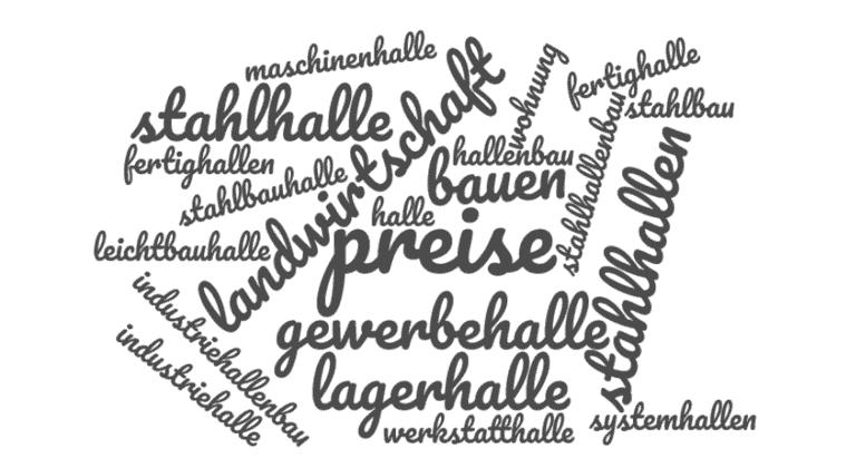 Wortwolke mit relevanten Suchbegriffen